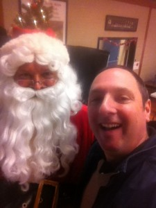 Santa selfie with Allan Miller and Kieran Fahy